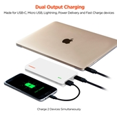 HyperGear 12000mAh 18W USB-C PD + Fast Charge Portable Battery