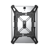 Urban Armor Gear (UAG) - Exoskeleton Adjustable Tablet Case for Small Tablets up to 8in - Black
