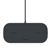 mophie - Dual Wireless Charging Pad with Type A Output 10W - Black