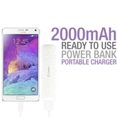 Cellet - Power Bank 2,000 mAh - White