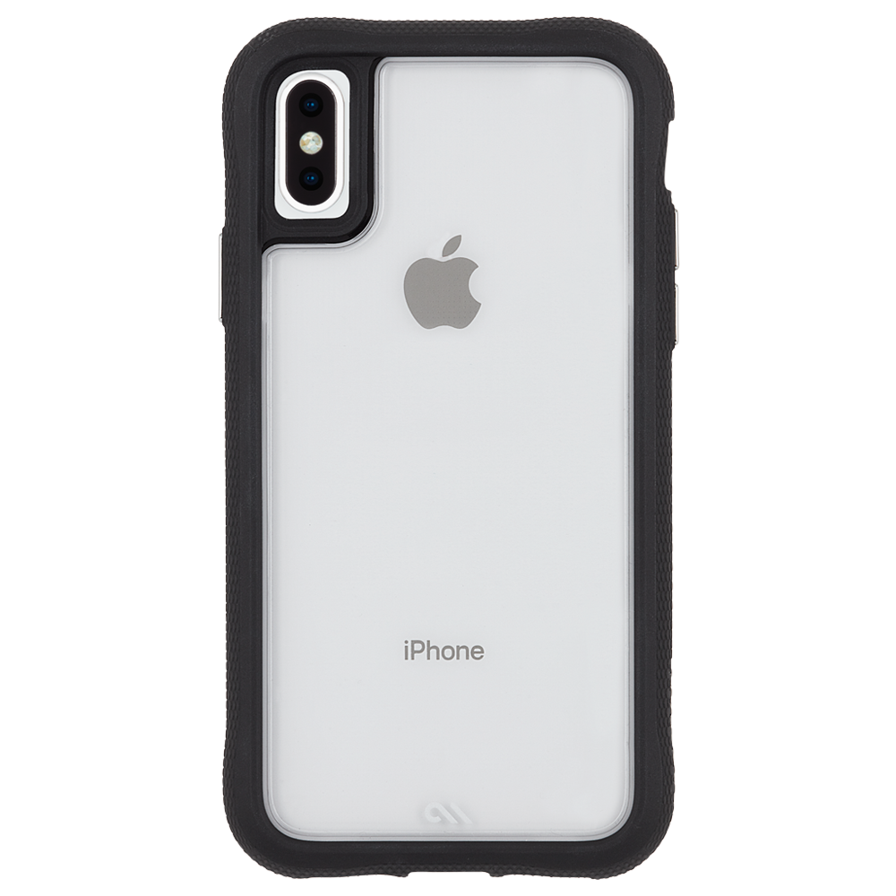 - Case-Mate - Tough Grip Case for iPhone Xs/X - Silver