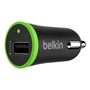 Belkin Boost Car Charger Adapter (Cable Not Included) - 12W / 2.4A - Black / Green