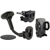 Universal Vehicle Holder With Windshield, Vent, or Dash Mount