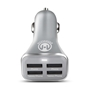 HyperGear High-Power Quad USB 6.8A Charger - Silver