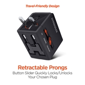 HyperGear All-in-one World Travel Adapter Black