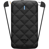 iWalk - Duo 3000 Power Bank 3,000 mAh for Apple Lightning and Micro USB Devices - Black