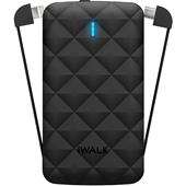 iWalk - Duo 2.0 Power Bank 3,000 mAh for Apple Lightning and Type C Devices - Black