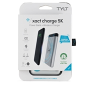 TYLT - Xact 5K Wireless Charging Pad and Power Bank 5W 5,000 mAh - Silver