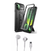 Phone11 Bundle with Unicorn Beetle - Full body case and Apple OEM corded headset with Lightning connector