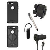 iPhone 8/7/6S/6 Otterbox Defender Rugged Case Bundle - Black